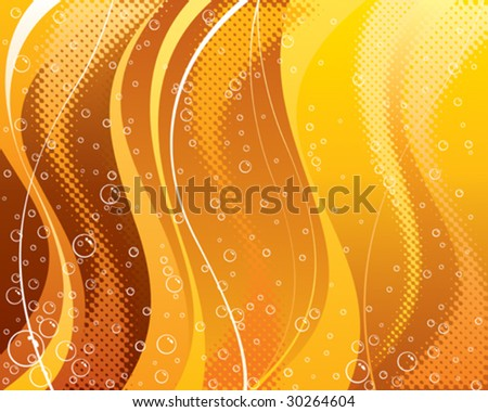Abstract carbonated drink background, vector layered.