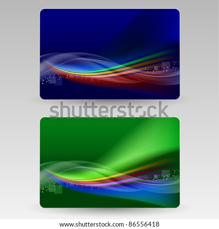 Abstract cards. Illustration for design on gray background