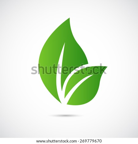 abstract  care vector logo  eco