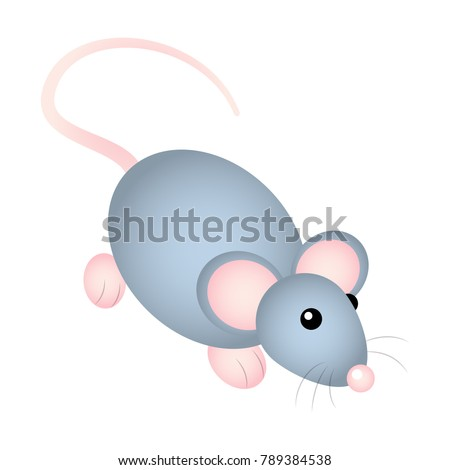 abstract cartoon mouse isolate