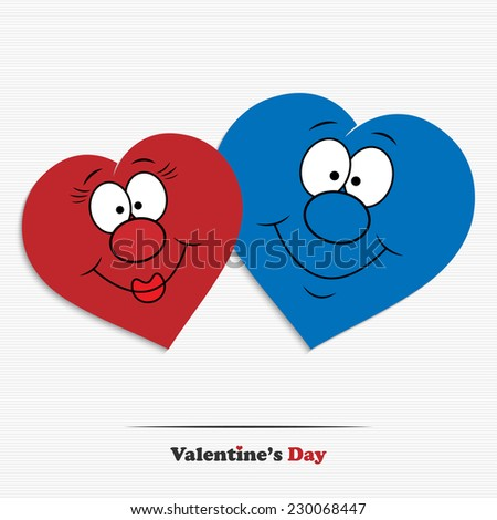 abstract cartoon valentine's