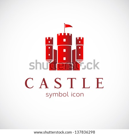 abstract castle vector logo