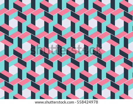 Abstract catchy colorful geometric pattern