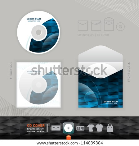 Abstract CD modern Design template / corporate identity design for business set / vector illustration
