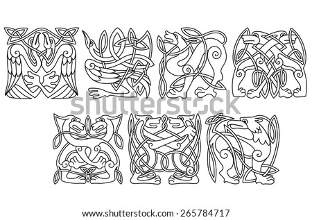 abstract celtic patterns with