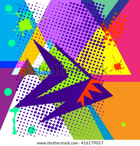 abstract chaotic pattern with