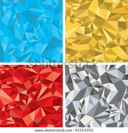 Abstract chaotic vector backgrounds set-for your design