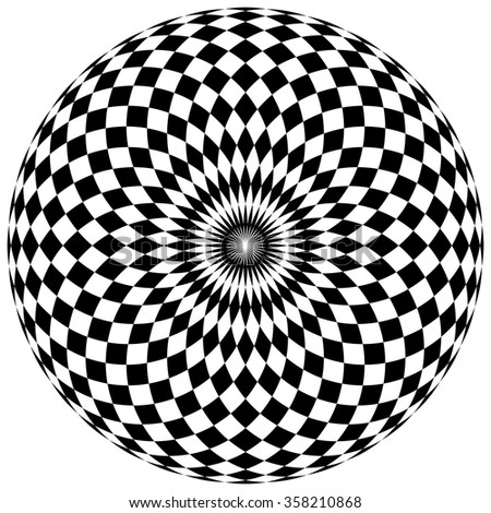 abstract checkered circle