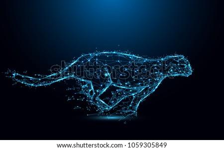 abstract cheetah running form
