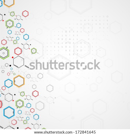 abstract chemical formula technology business science background