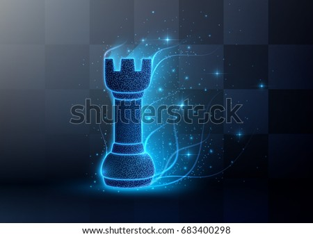 Abstract Chess background with light particles. Vector illustration #683400298