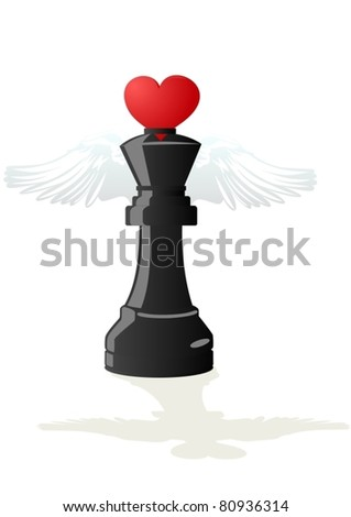 Abstract chess pieces. Illustration on a white background.