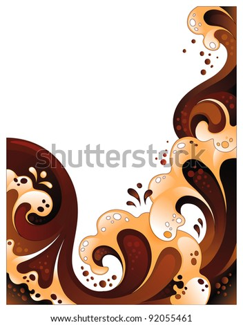 Abstract chocolate and milk background. Vector illustration isolated on white