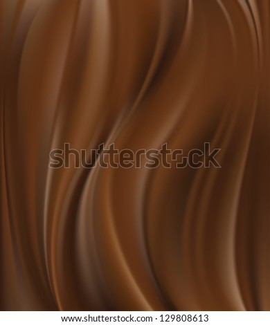 Abstract chocolate background, brown abstract satin, vector illustration - stock vector