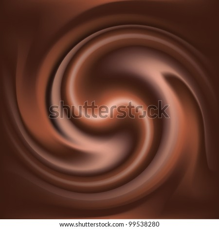 Abstract chocolate swirl background