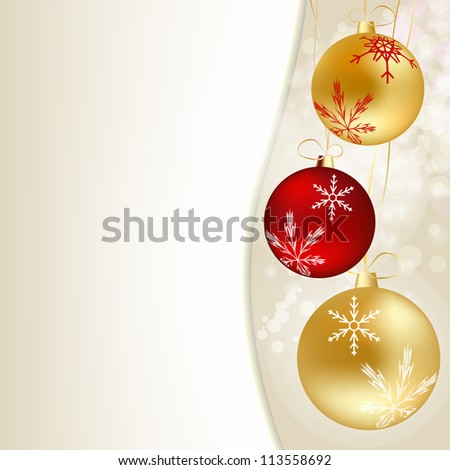 Abstract  Christmas and New Year background. vector illustration - stock vector