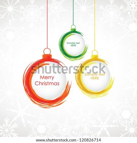 Abstract christmas background, christmas balls