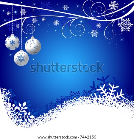 Abstract Christmas background vector