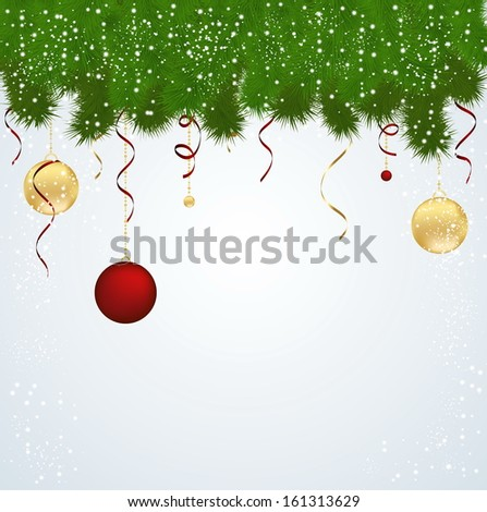 Abstract Christmas background with balls vector #161313629