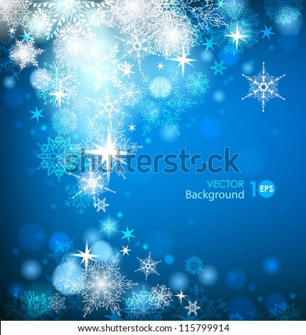 Abstract Christmas background with snowflakes. Vector eps 10.
