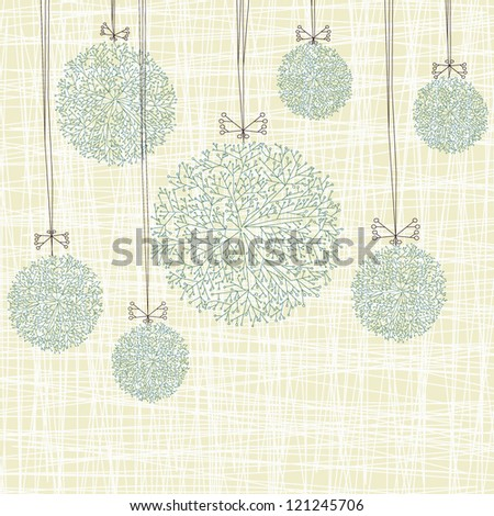 Abstract christmas balls - stock vector