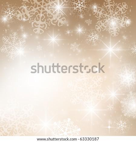 Abstract Christmas Card - stock vector