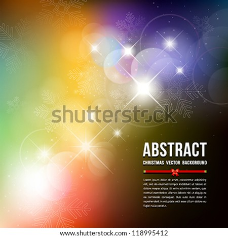Abstract Christmas Snowflake background, vector illustration