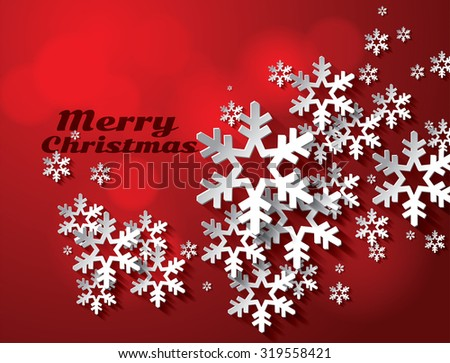 abstract christmas snowflakes