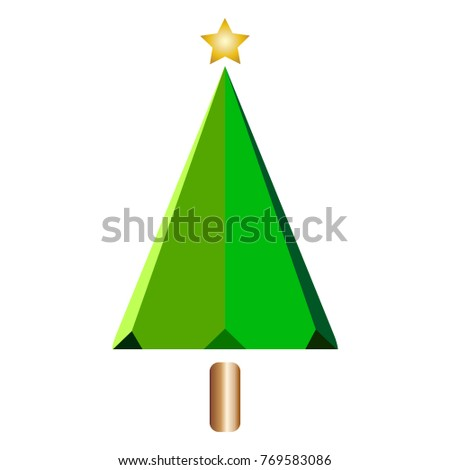 Abstract Christmas tree #769583086