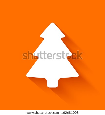 abstract christmas tree in flat