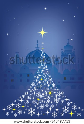abstract christmas tree  on the