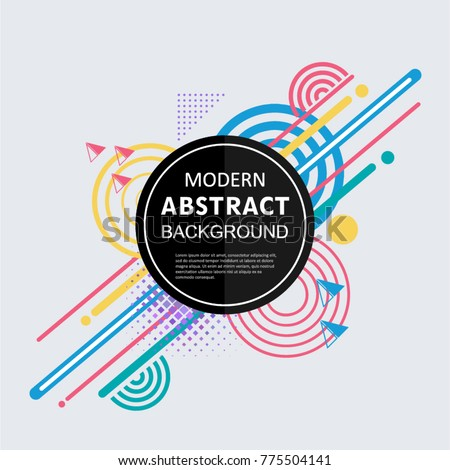 Abstract circle badge geometric pattern design and background. Use for modern design, cover, template, decorated, brochure, flyer. #775504141