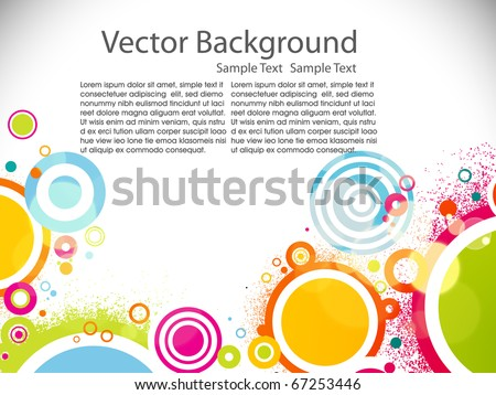 Abstract circle colorful background. Vector illustration - stock vector