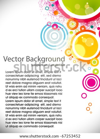 Abstract circle colorful background. Vector illustration