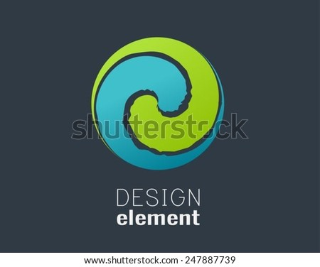 abstract circle design element