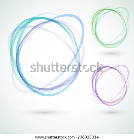 Abstract circle design swoosh line elements. Vector illustration