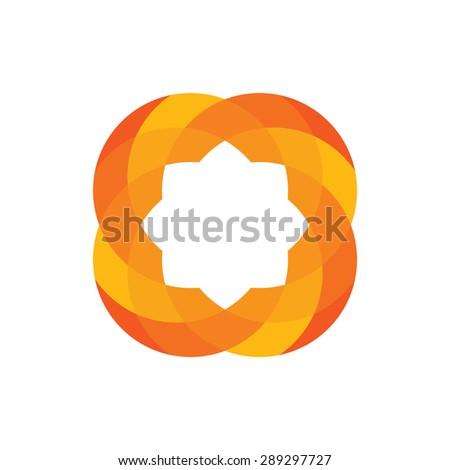 abstract circle icon sign logo