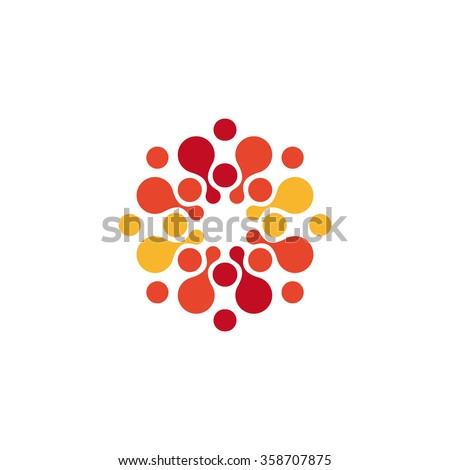 abstract circle logo red