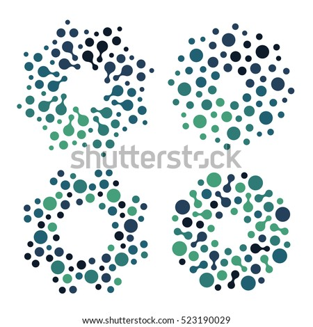 abstract circle logotype set