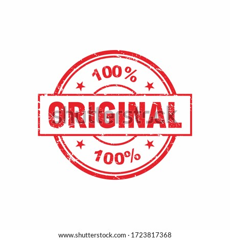 Abstract Circle Red Grunge Original Stamp Label Illustration Design, Original Mark Template Vector Stock photo ©