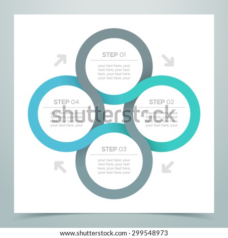 Abstract 4 Circle Ribbon Infographic 3