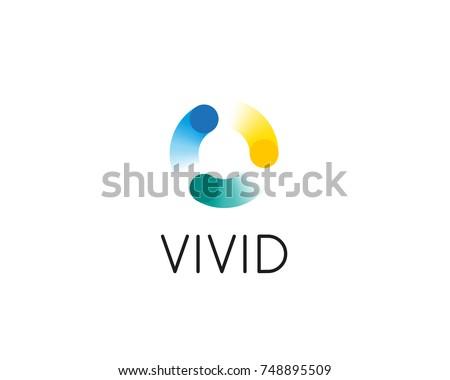 abstract circle swirl dots logo