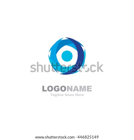 Abstract Circle Swoosh Team Blue Corporate logo