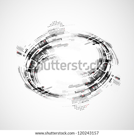 abstract circle technology business background