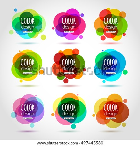 Abstract circle template for your design. Vector collection