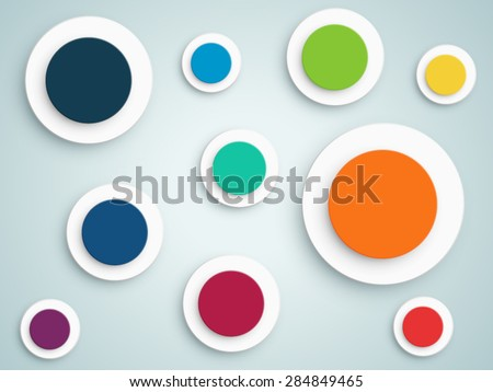 abstract circle vector