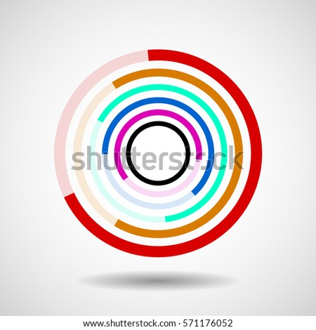 abstract circle with lines