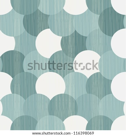 abstract circles seamless background - stock vector