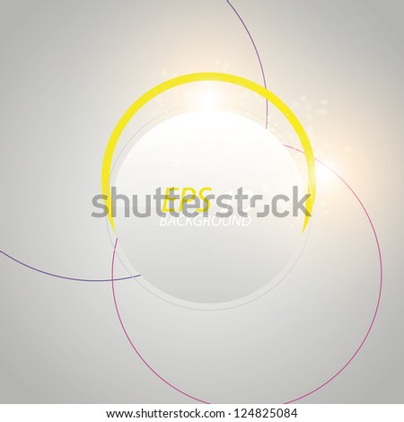Abstract circles with light. vector background
