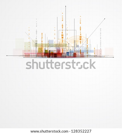 abstract circuit city computer high technology business background